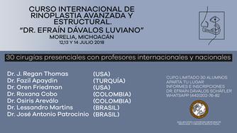 Curso internacional de rinoplastia avanzada y estructural
