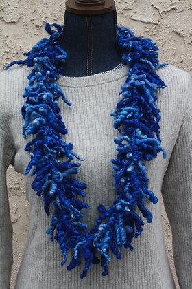 Sky Blue Over Spun Wool Scarf WOS02