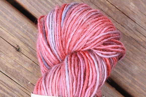 Variegated Deep Pink Handspun Wool Yarn