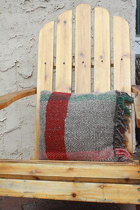 Plaid Wool Blanket Pillow