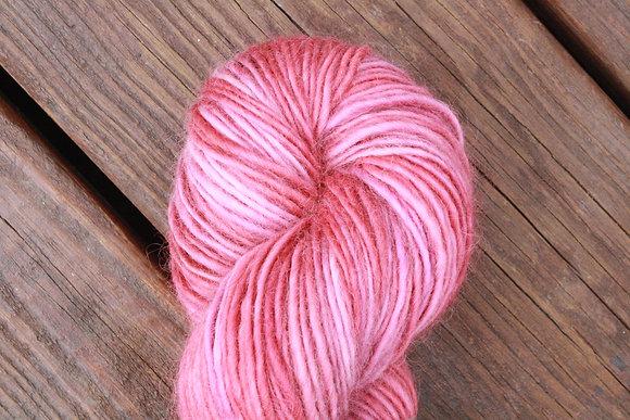 Variegated Pretty Pink Handspun Wool Yarn
