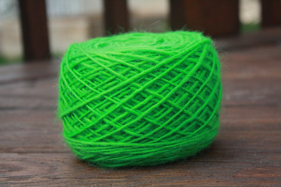 Kelly Green Handspun Wool Yarn