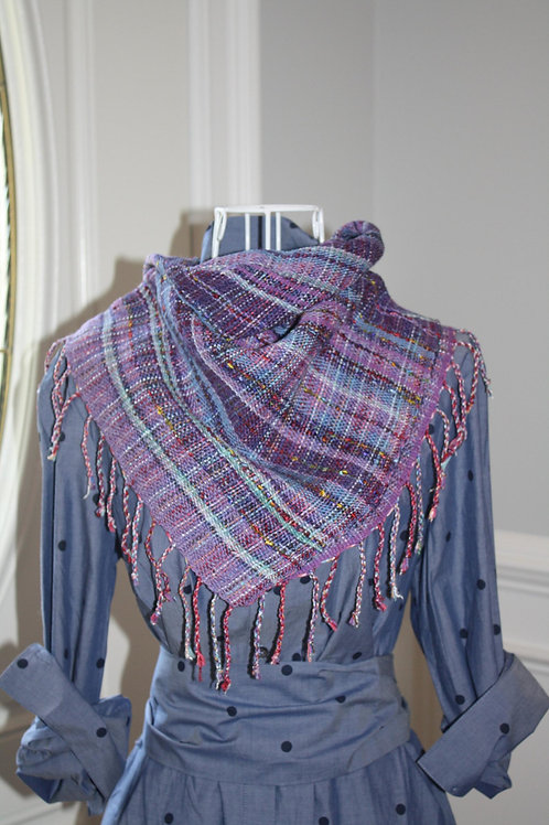 PURPLE RAINBOW JENNIFER SCARF