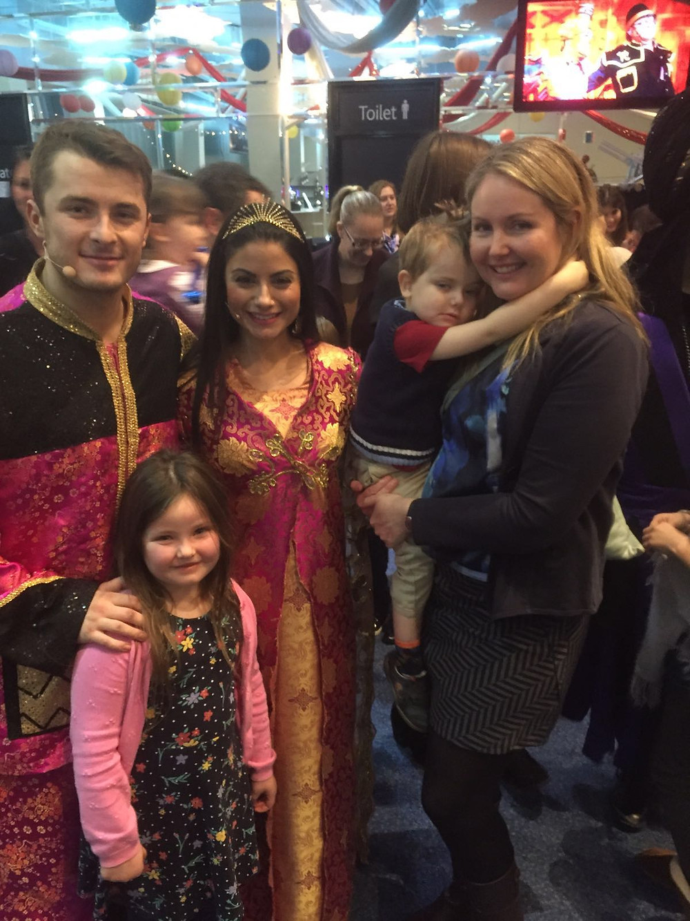 Meeting the cast of the Poole Pantomime- a popular annual event!