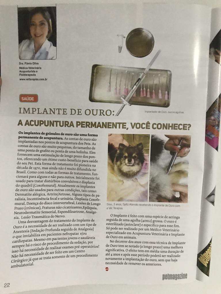 Petmagazine IMPLANTE DE OURO