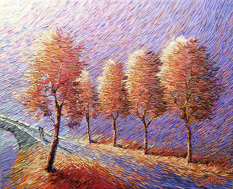 Palette knife painting by Chris Quinlan Art