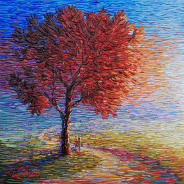 """""""Once Around""""Palette knife painting by Chris Quinlan Art"""