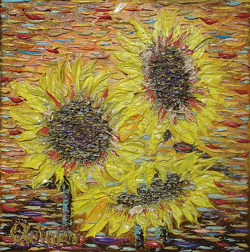 abstract floral oil painting by Irish artist Chris Quinlan