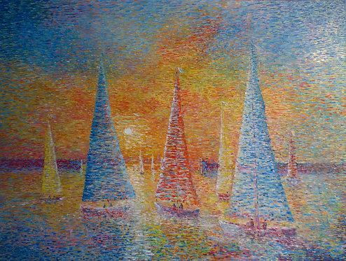 textured oil painting
