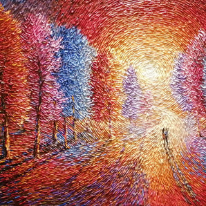 """""""Infinite Moments""""Palette knife painting by Chris Quinlan Art"""