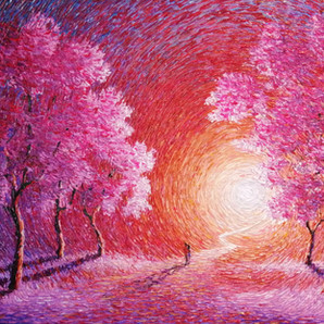 """""""There Must Be A Tree""""Palette knife painting by Chris Quinlan Art"""
