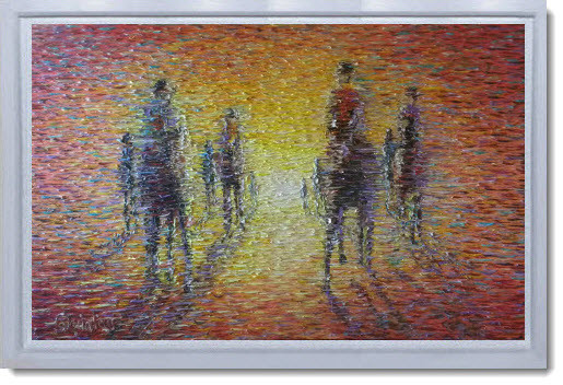 Abstract Impressionism painting by Chris Quinlan Art