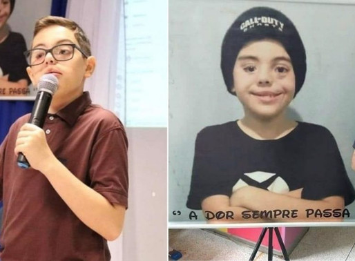 Após 18 cirurgias, menino de 12 anos se torna palestrante e ajuda crianças que sofrem bullying