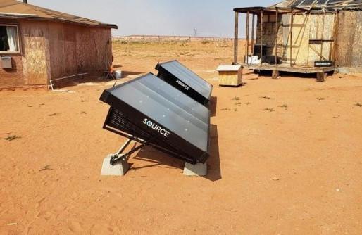 Painéis movidos a energia solar transformam vapor em água potável, em comunidade indígena nos EUA