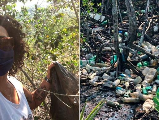 Ela decidiu limpar mangue em Guaratiba-RJ e promoveu verdadeira transformação