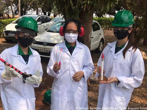 Alunas brasileiras criam minifoguetes para reflorestar áreas devastadas