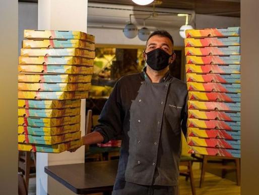 Restaurante entrega pizza para plantonistas de hospital em SP