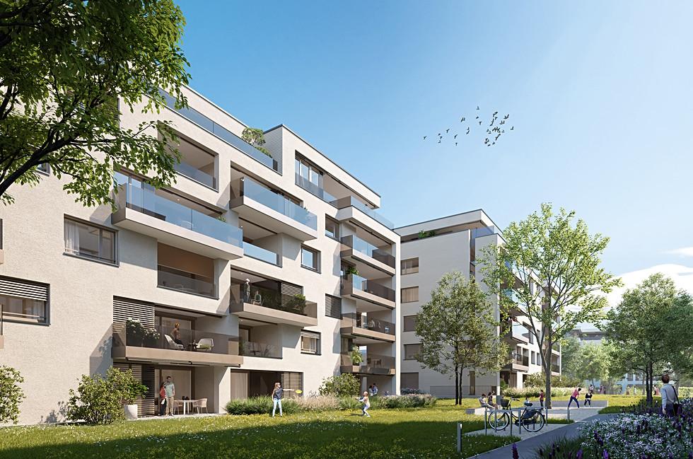 Landhauspark Zug - Vermarktung Wohnüberbauung Etappe 3