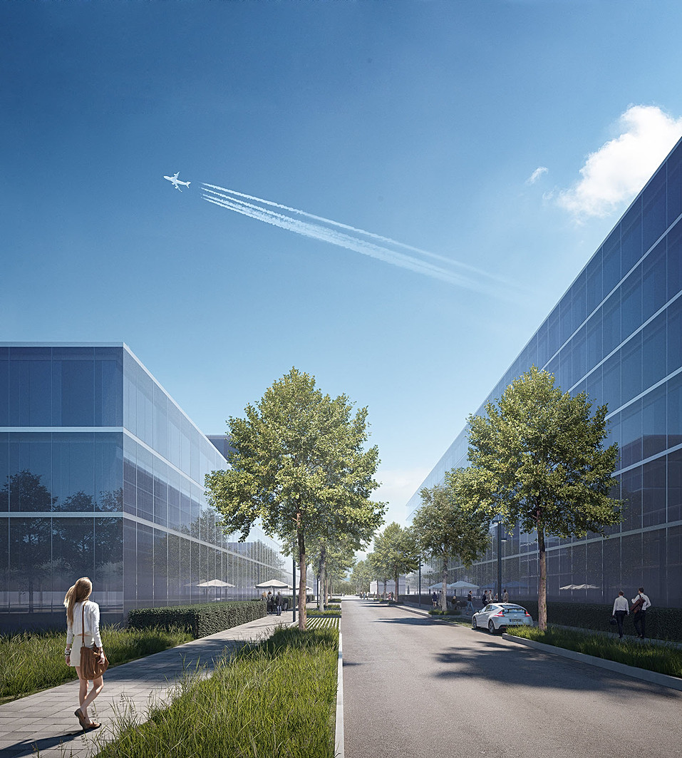 AirSite West, Freiraumplanung in München