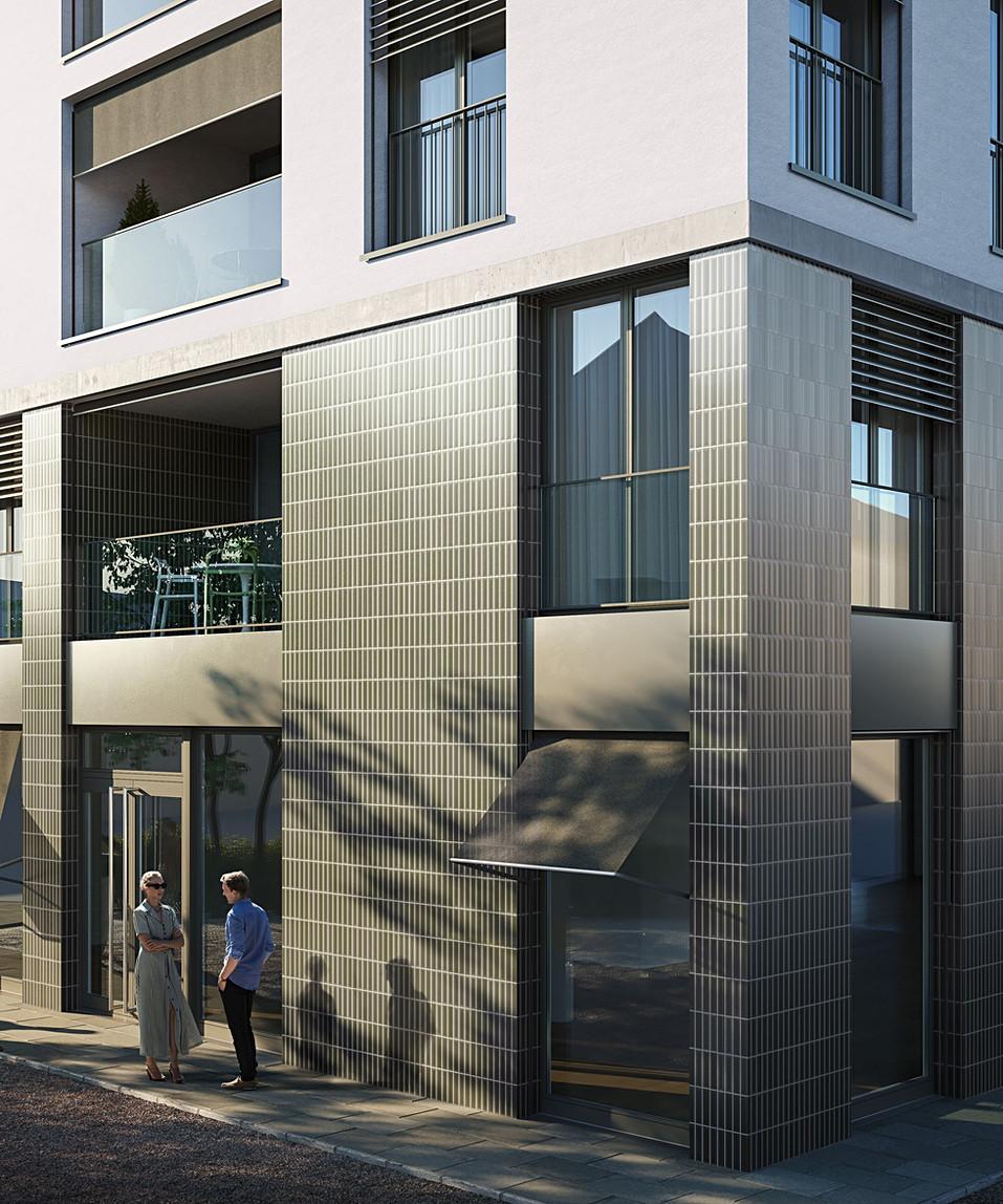 Fassadendetail Arealüberbauung Zentralstrasse, Wohlen