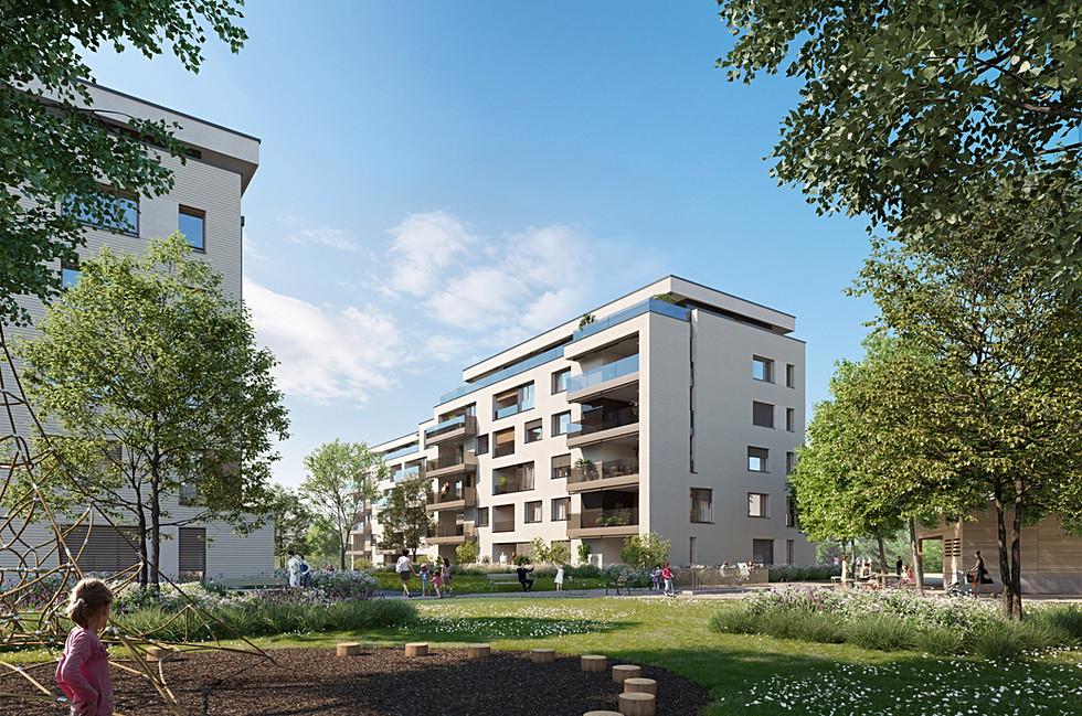 Landhauspark Zug - Vermarktung Wohnüberbauung Etappe 3 - Hof