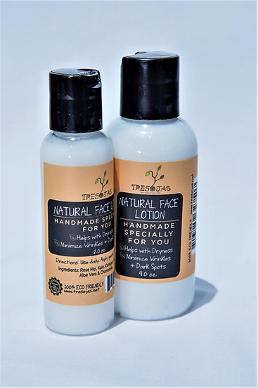 Natural Face Lotion 4onz.