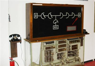 7A2 telefonközpont modell (működő) Leltá