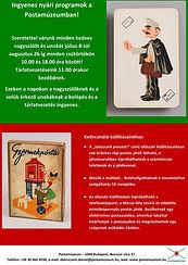 A nagyszülő-unoka program plakátja