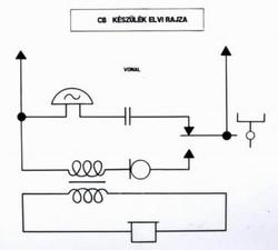 CB távbeszélő készülék kapcsolási rajza.