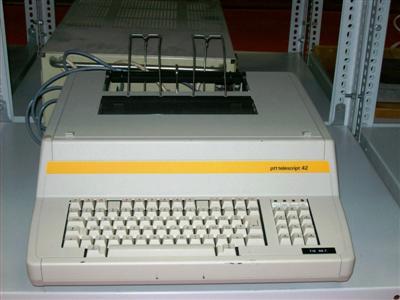 Távgépírók - Telescript PTT42 Leltári sz