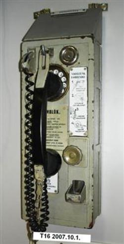 MATART pénzbedobós nyilvános telefon Lel
