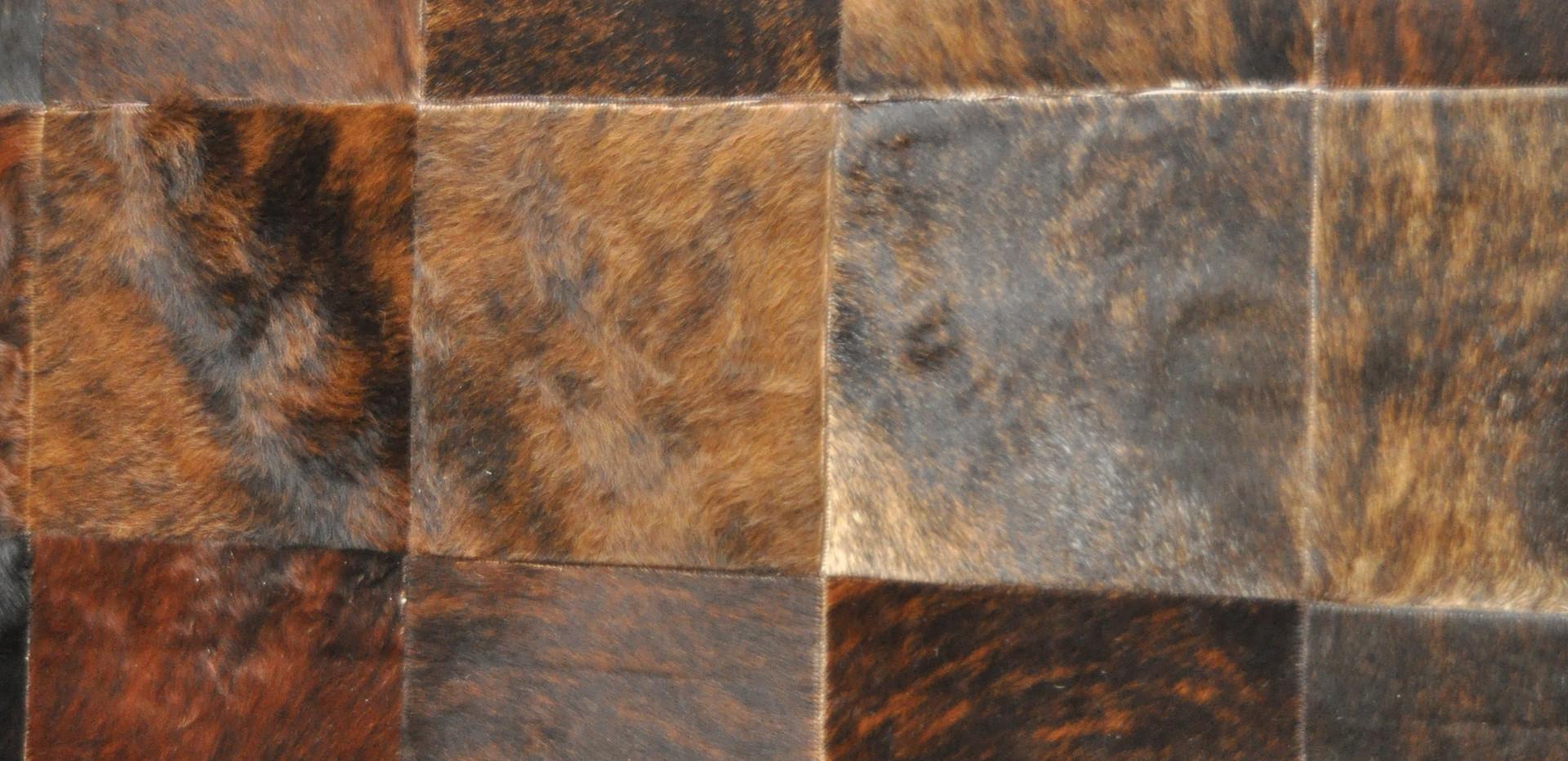Squares of Golden Fur Rug