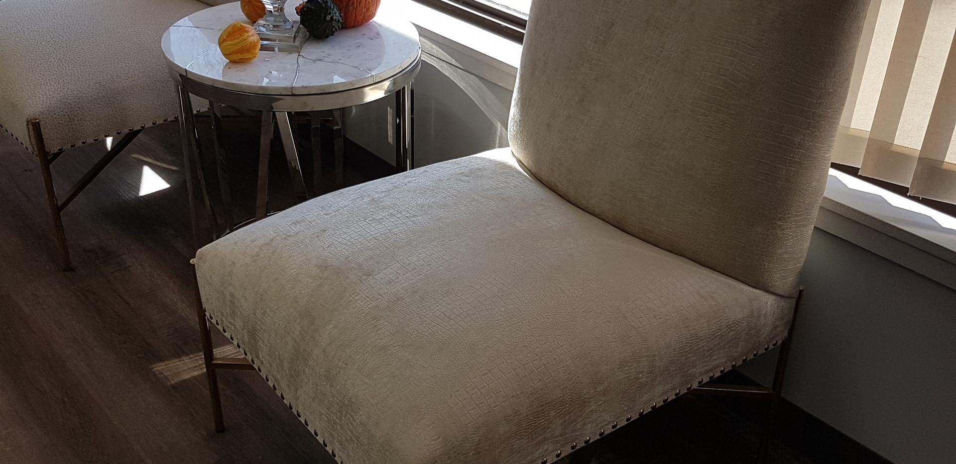 Crocodile Suede Chairs