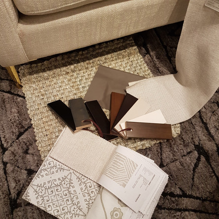 Coordinating materials with client in a showroom