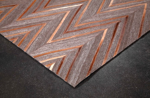 Leather & Hair Abstract Rug 5' x 8'