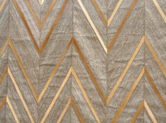 Gold Cheveron Rug
