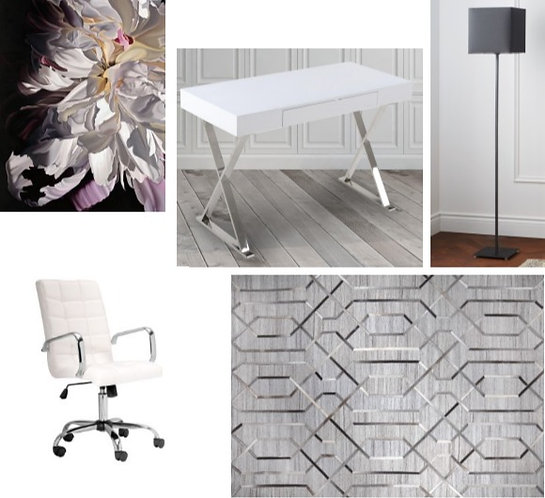 Office Furniture & Decor Grouping