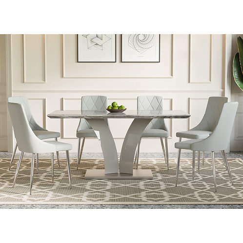 7pc Dining Table and Chairs