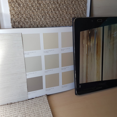 Selections for Paint, Roller Shades, Art, & Carpet