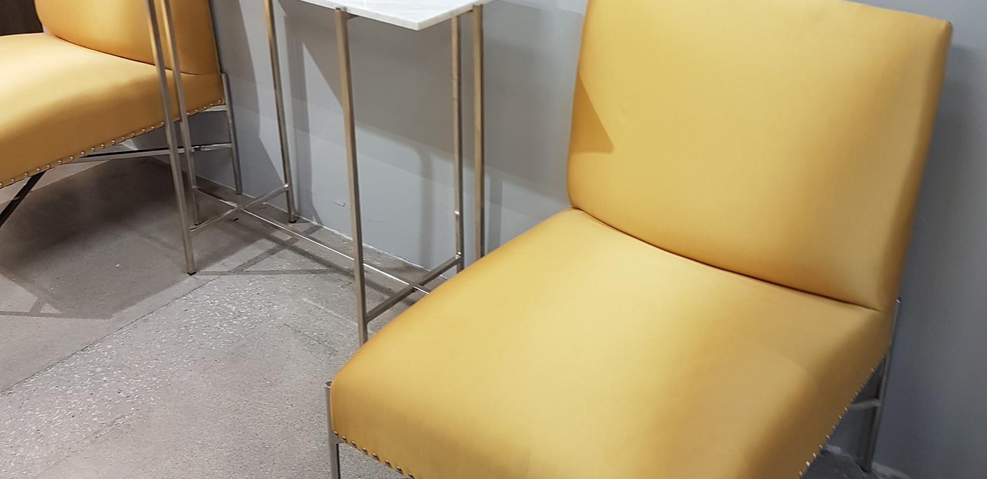 Yellow Sateen Chairs