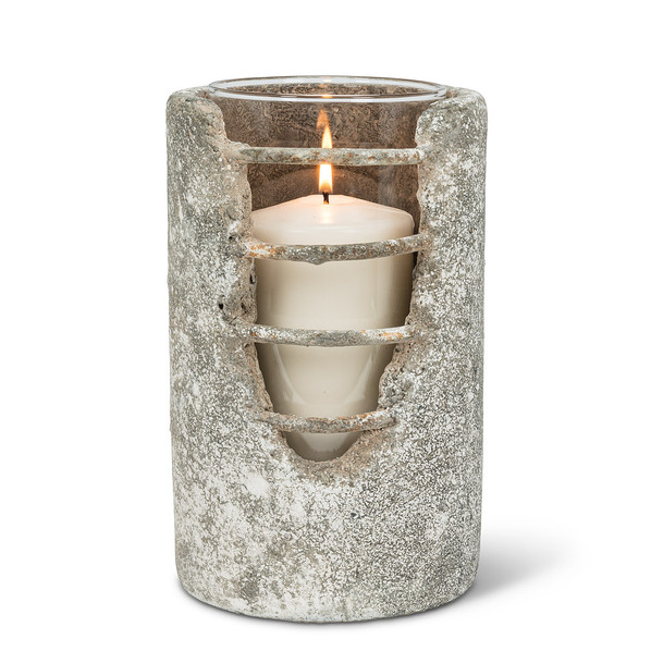 Decorative Cement Candle Holder