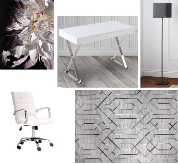 Office Grouping of Furniture & Decor