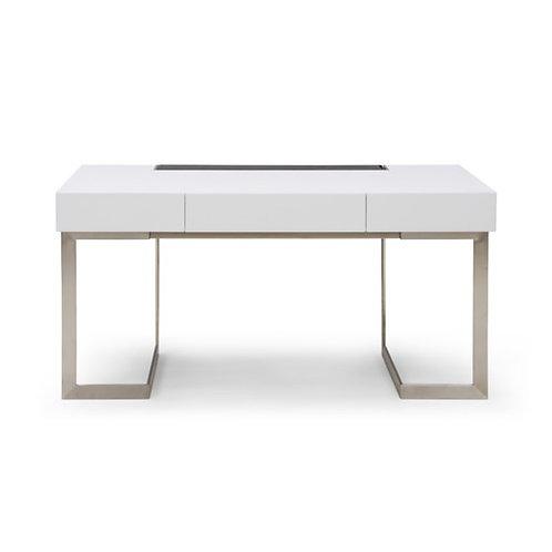 Glossy White Contemporary Desk