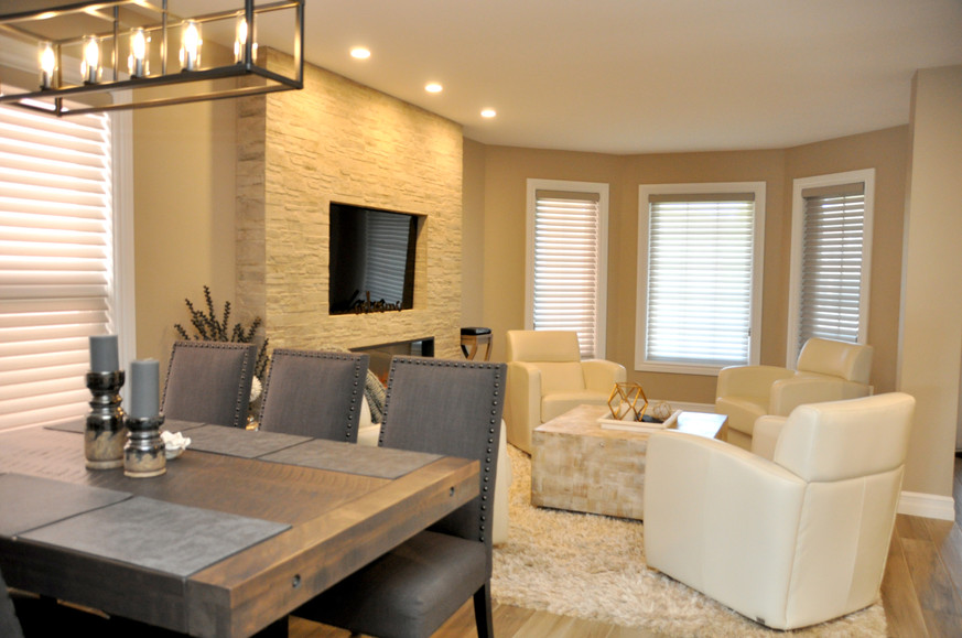 New Open Concept Living/Dining Area