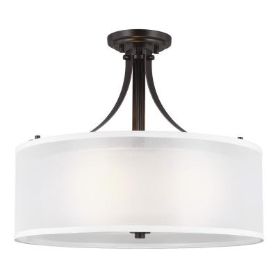 Foyer Light Fixture with Glass Shade