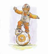 Poe and BB8 - Star Wars Fanart