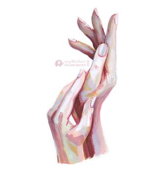 Gouache Hands
