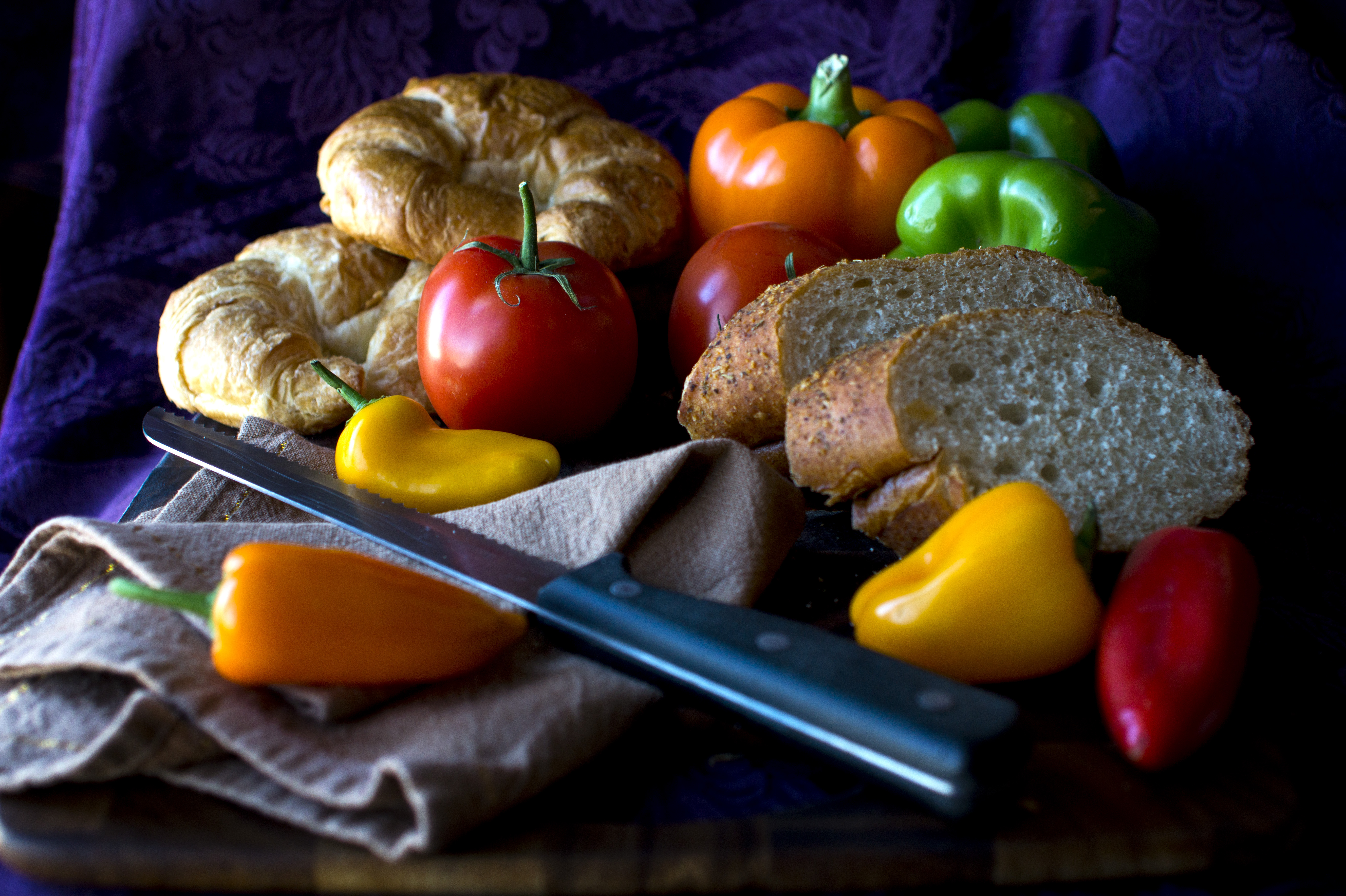 Peppers and Bread