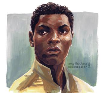 John Boyega - Gouache