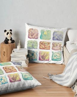 Square Monster Pillow